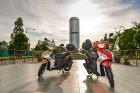 Borneo Ride motorbike at Menara Tun Mustapha, Kota Kinabalu